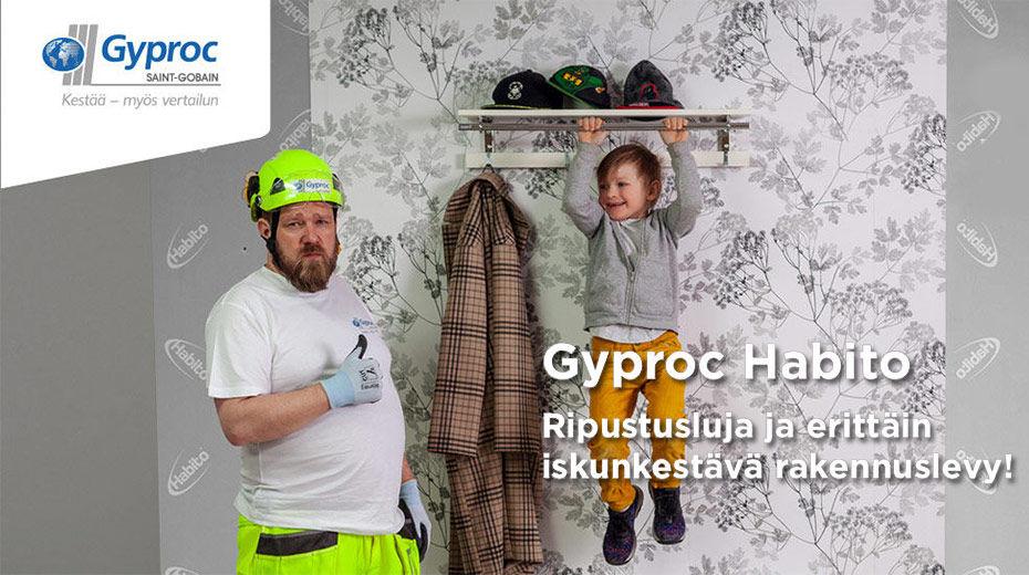 Gyproc Habito - Ripustusluja ja erittäin iskunkestävä rakennuslevy
